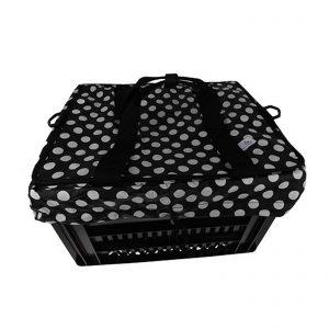 Fietskrattas Crate voor Melkkrat Small White Dots